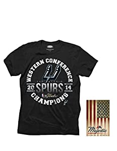 NBA San Antonio Spurs Mens 2014 Western Conference Champs Triblend Tee by MAJESTIC THREADS