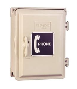 Waterproof Phone Box Enclosure with Spring Loaded Door - INDUSTRIAL TELEPHONE ENCLOSURE WITH WALLPLATE JACK & SPRING LOADED DOOR