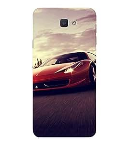EPICCASE Red Ferrari Mobile Back Case Cover For Samsung Galaxy J7 Prime (Designer Case)
