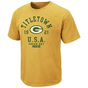 NFL Green Bay Packers Pigment Dyed Vintage Stadium Wear III T-Shirt - Gold by VF