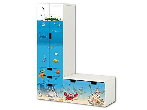 Unterwasserwelt aufkleber set sl06 passend f r die for Ikea kinderspiel