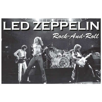 Laminated Led Zeppelin Rock And Roll Music Poster - 24X36