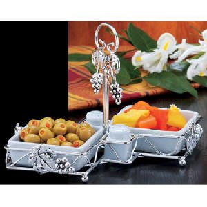 GRAPE DESIGN CADDY WITH SERVERS AND SALT N' PEPPER SHAKERS - Buy GRAPE DESIGN CADDY WITH SERVERS AND SALT N' PEPPER SHAKERS - Purchase GRAPE DESIGN CADDY WITH SERVERS AND SALT N' PEPPER SHAKERS (Jaf Gifts, Home & Garden, Categories, Kitchen & Dining, Cook's Tools & Gadgets, Tool & Gadget Sets)