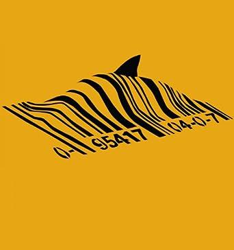 Amazon.com: Banksy Barcode Shark: Clothing