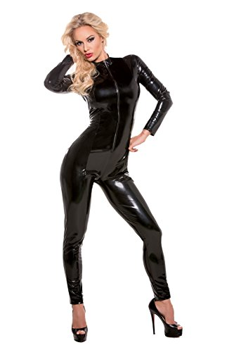 Allure Lingerie Women's Second Skin Super Sexy Wet Look Whiplash Catsuit