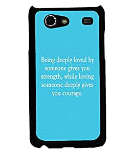 Printvisa 2D Printed Quotes Designer back case cover for Samsung Galaxy S Advance SM - I9070 - D4574