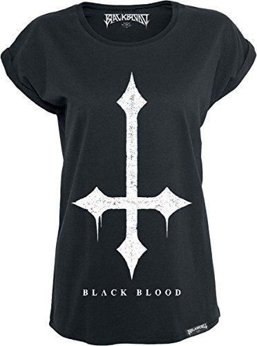 Black Blood Cross Maglia donna nero XS