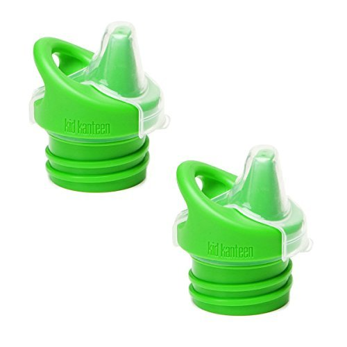 Klean Kid Kanteen Sippy Bottle Cap, Green, 2 Pack (Klean Kanteen Sippy Cap compare prices)