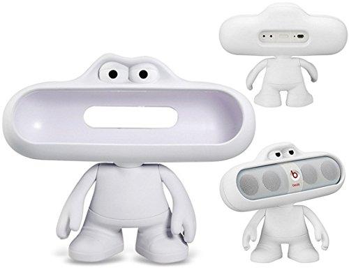 Lovely Dude Doll Design Bluetooth Speaker Stand/ Holder For Beats Pills Bluettoth Speaker (White)