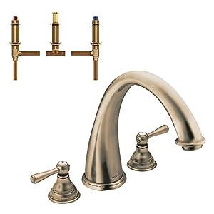 Moen krtki d t920az kingsley 9 inch roman tub faucet - Moen antique bronze bathroom faucets ...
