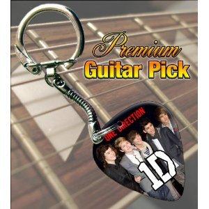 Printed Picks Company 5055287683656 One Direction Premium Guitar Pick Keyring by Printed Picks Company