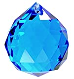 UmiweTM 40mm Fashion Decoration Artificial Crystal Ball Prism PendantLight Blue With Umiwe Accessory