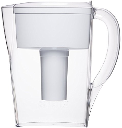 Brita 6 Cup Space Saver BPA Free Water Pitcher with 1 Filter, White (Water Filters Pitcher compare prices)