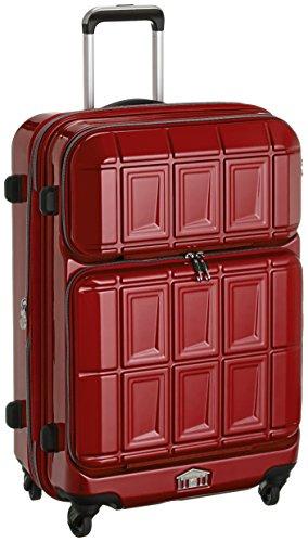 [エー・エル・アイ] A.L.I スーツケース PANTHEON 63.5cm 54L(拡張時59L) 4.6Kg Wフロントポケット 拡張ファスナー TSAロック付 PTS-3007K CRD (クリムゾンローズレッド)