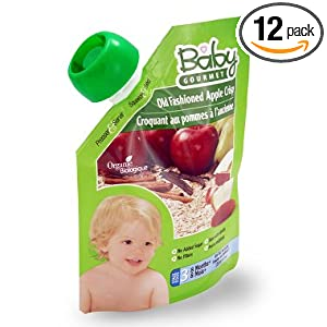 Baby Gourmet 3 Tasty Textures 8 Months+ Old Fashioned Apple Crisp, 4.5-Ounce Pouches (Pack of 12) $15.20