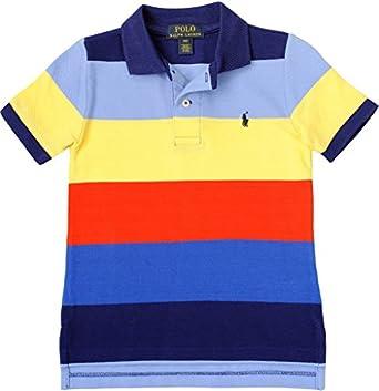 Polo Ralph Lauren Little Boy's Lifesaver Mesh Polo, Blue Multi, 2/2T