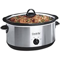 Crock-Pot Chrome Slow Cooker, 6.5 Litre, Brushed Chrome