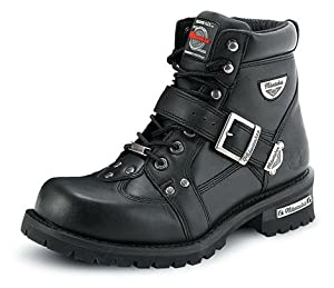 Milwaukee Motorcycle Clothing Company Road Captain Leather Women's Motorcycle Boots (Black, Size 8.5C)