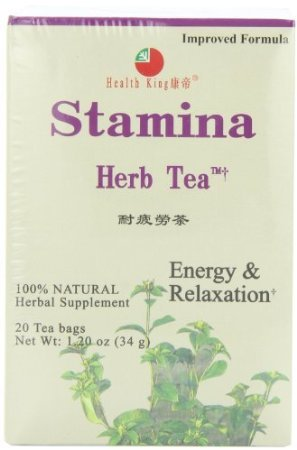 Health King Stamina Herb Tea, Teabags, 20-Count Box