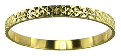 Kareco 9ct Yellow Gold 2mm Light Flat Diamond Cut Wedding Ring
