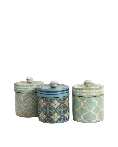 Set of 3 Assorted Kabir Hand-Painted Boxes