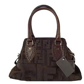 Fendi Ladies Large Zucca Handbag 8BN157 Brown