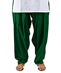 Neha Fashion Women's Regular Patiala Pant ( Dark Green )