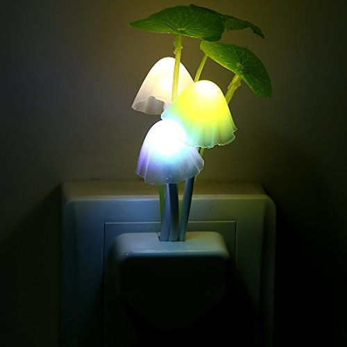 Taozi Night Light Mushroom Lamp Energy Saving Color ...