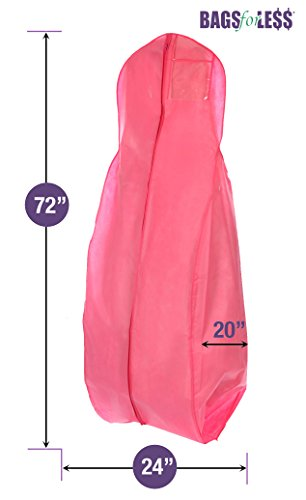 New X-large Breathable Pink Wedding Gown Garment Bag by BAGS FOR LESSTM