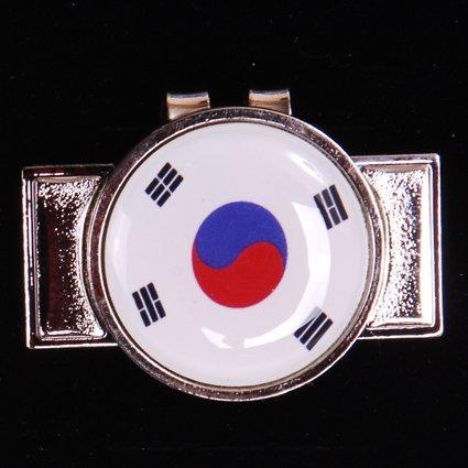 """1"""" Magnetic Golf Ball Marker Korean Flag Venchinni c19"""