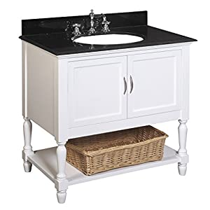 Beverly 36 Inch Bathroom Vanity Black White Includes A White Cabinet A Gr