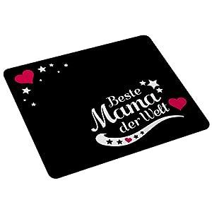 """Wandkings Mousepad / Mauspad mit Schriftzug """"Beste Mama der Welt"""" - ideales Geschenk für Mütter"""