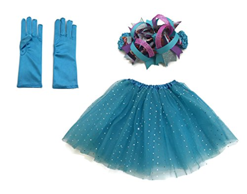 Rush Dance Girls Dress-Up Queen Elsa Frozen Fever Tutu & Headband & Gloves