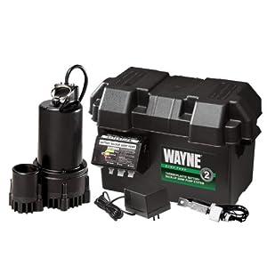 Wayne ESP25 12-Volt 3300 Gallons Per Hour Battery Back Up Sump Pump System