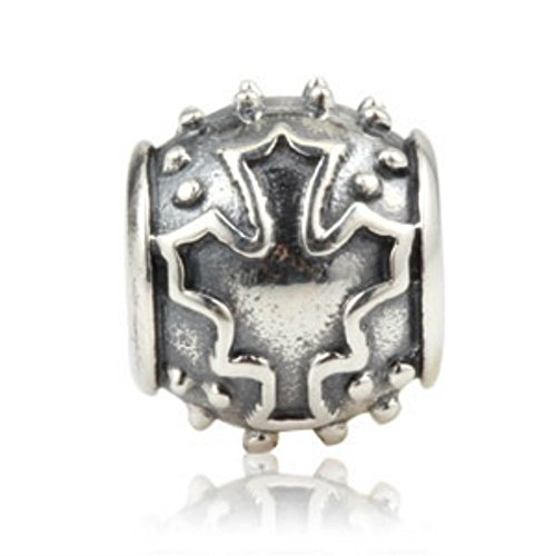 maple leaf 925 sterling silver charm bead fits pandora
