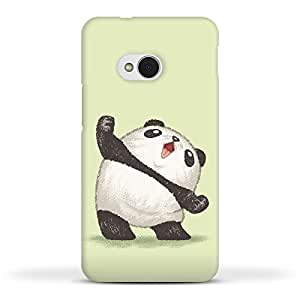 FUNKYLICIOUS HTC One M7 Back Cover Panda joy of the victory Design (Multicolour)