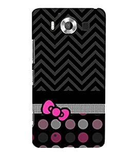 Love at Fashion Dotted Chevron 3D Hard Polycarbonate Designer Back Case Cover for Nokia Lumia 950 :: Microsoft Lumia 950