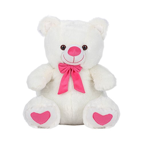 Kuddles-Spongy-Teddy-Bear-15-inches-Soft-Toy-Gifts-White