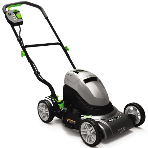 Earthwise 60217 17-Inch 24 Volt Side Discharge/Mulching Cordless Electric Lawn Mower image