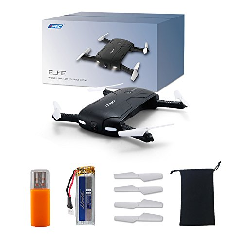 BTG JJRC H37 2.4GHz 6-Axis Gyro Foldable Pocket Selfie Quadcopter - WIFI FPV Drone With Adjustable HD Camera - Automatic Altitude Hold/Headless Mode/One Press Return