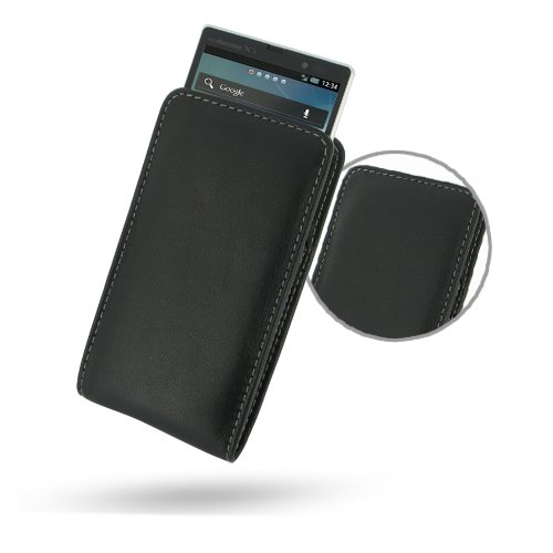 Sharp Aquos PhoneZETA Leather Case - SH-09D - Vertical Pouch Type (NO Belt Clip) by Pdair (Sharp Aquos Leather compare prices)