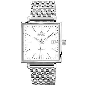 Dugena 7090320 - Reloj de pulsera hombre, acero inoxidable, color plateado