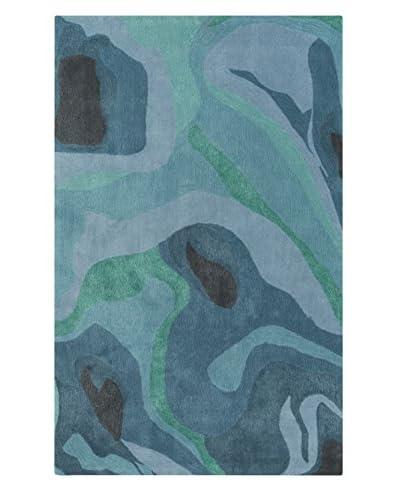 Surya Pigments Rug, Slate/Emerald/Kelly Green, 8' x 11'