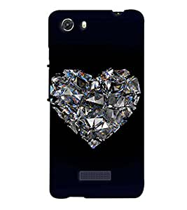 PrintVisa Romantic Love Diamond 3D Hard Polycarbonate Designer Back Case Cover for MIcromax Unite 3 Q372