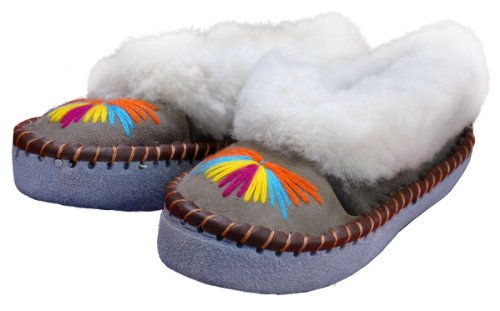 Image of Polish Apparel Womens Wool Sheepskin Slippers (B005Q08JYS)
