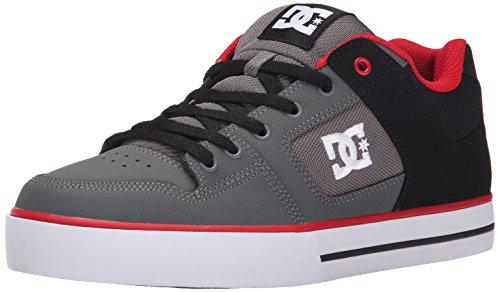 dc-shoes-pure-mens-shoe-d0300660-baskets-mode-homme-noir-gris-rouge-455-eu