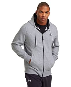 Under Armour Men's Charged Cotton® Storm Transit Full-Zip Hoodie Large True Gray Heather