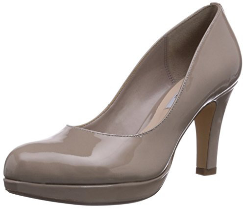 Clarks Crisp Kendra, Decolleté chiuse donna, Beige (Beige (Shingle Patent)), 43