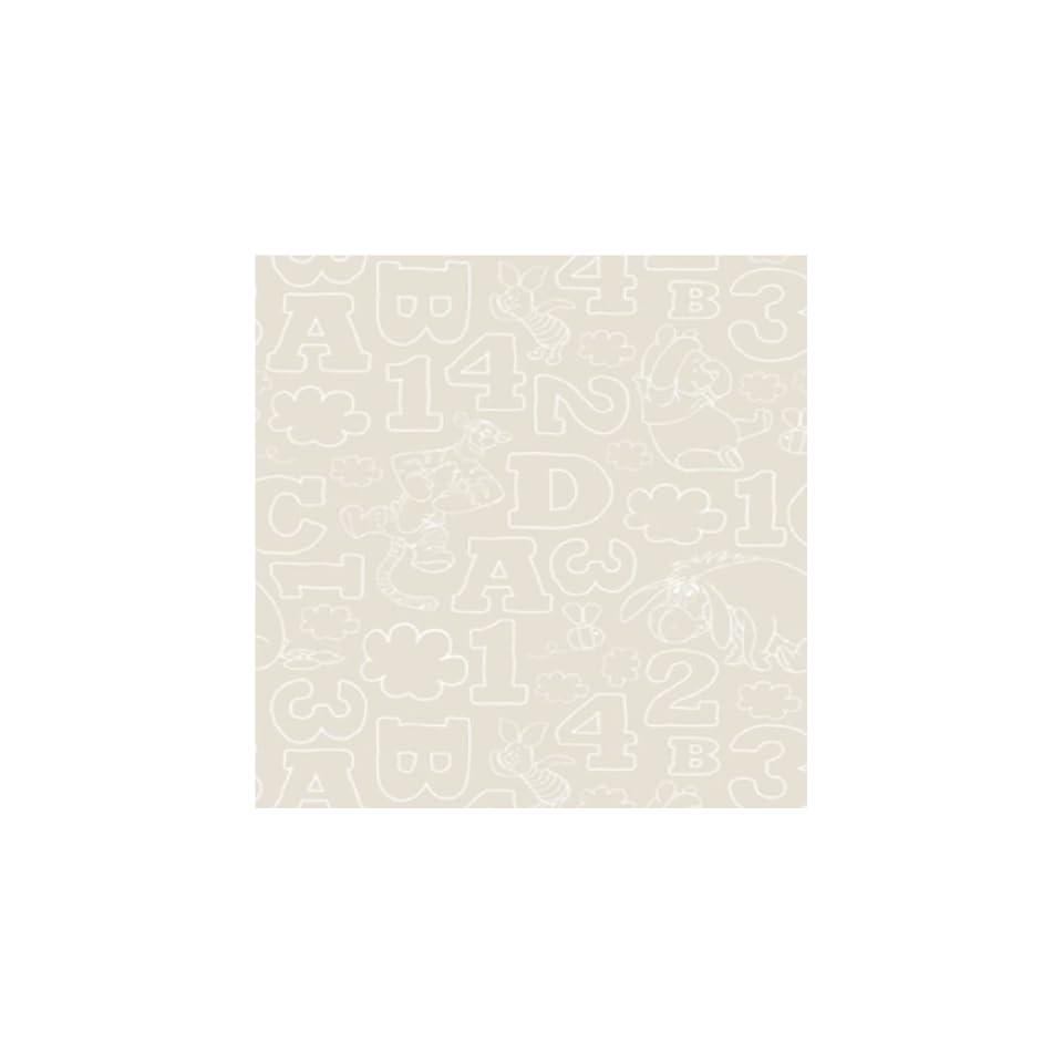Disney Winnie The Pooh 123 Numbers Letters Childrens Kids 10M Wallpaper Roll (Stone Df70699)