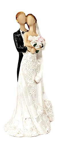 Wedding Couple Statue Figurine, Abstract HAPPY Love Never Dies Wedding Couple Figurine Happy Couple Design Statue Sculpture